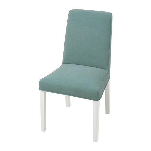 BERGMUND, krēsls 52x59x96 cm baltā krāsā/Ljungen gaiši zaļā krāsā