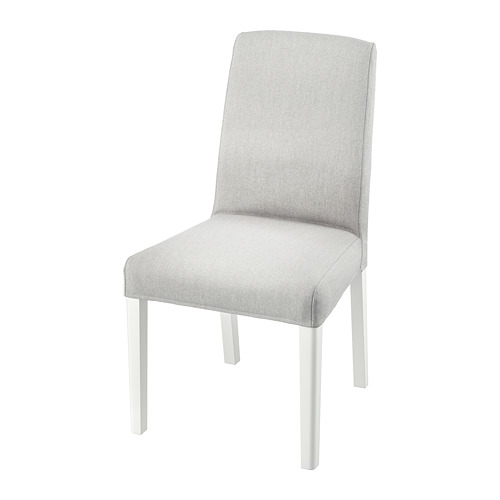BERGMUND, krēsls 52x59x96 cm baltā krāsā/Orrsta gaiši pelēkā krāsā