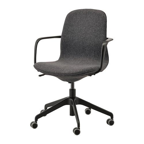 LÅNGFJÄLL biuro kėdė su porankiais