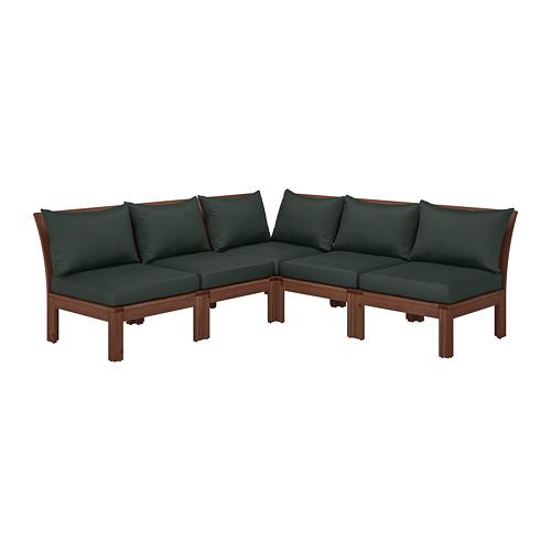 ÄPPLARÖ модульный угл 4-мест диван, садовый