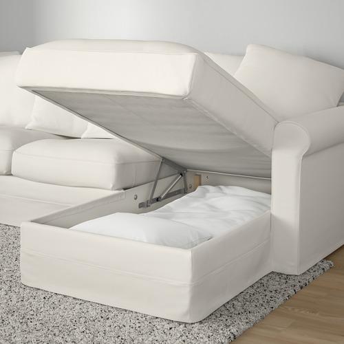 GRÖNLID trivietė sofa su gulimuoju foteliu