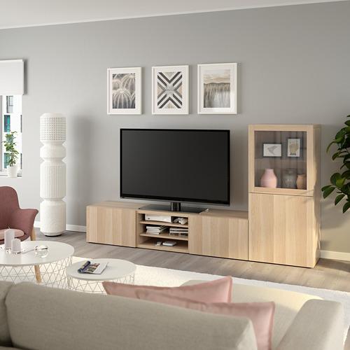 BESTÅ TV-põrandakapp/klaasuksed