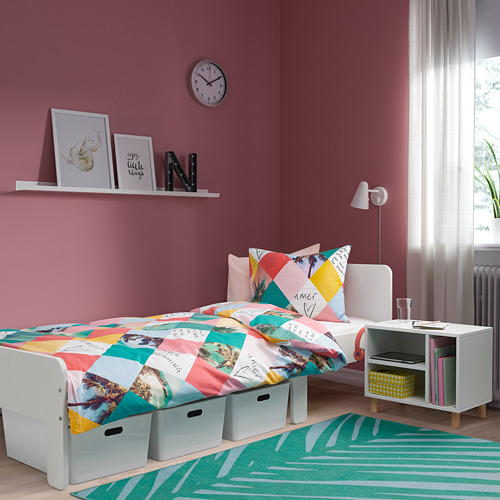 SMUSSLA bedside table/shelf unit