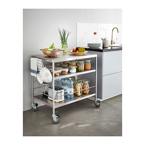 FLYTTA virtuvinis staliukas su ratukais