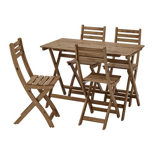 ASKHOLMEN stalas+4 kėdės, lauko