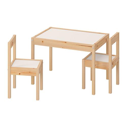 LÄTT стол детский с 2 стульями