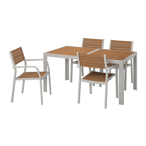 SJÄLLAND stalas+4 kėdės, lauko