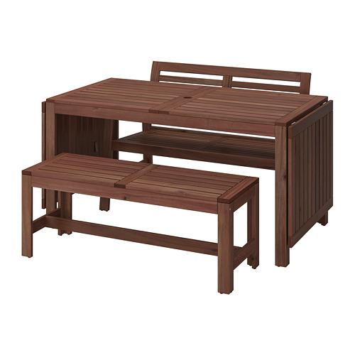 ÄPPLARÖ table+2 benches, outdoor