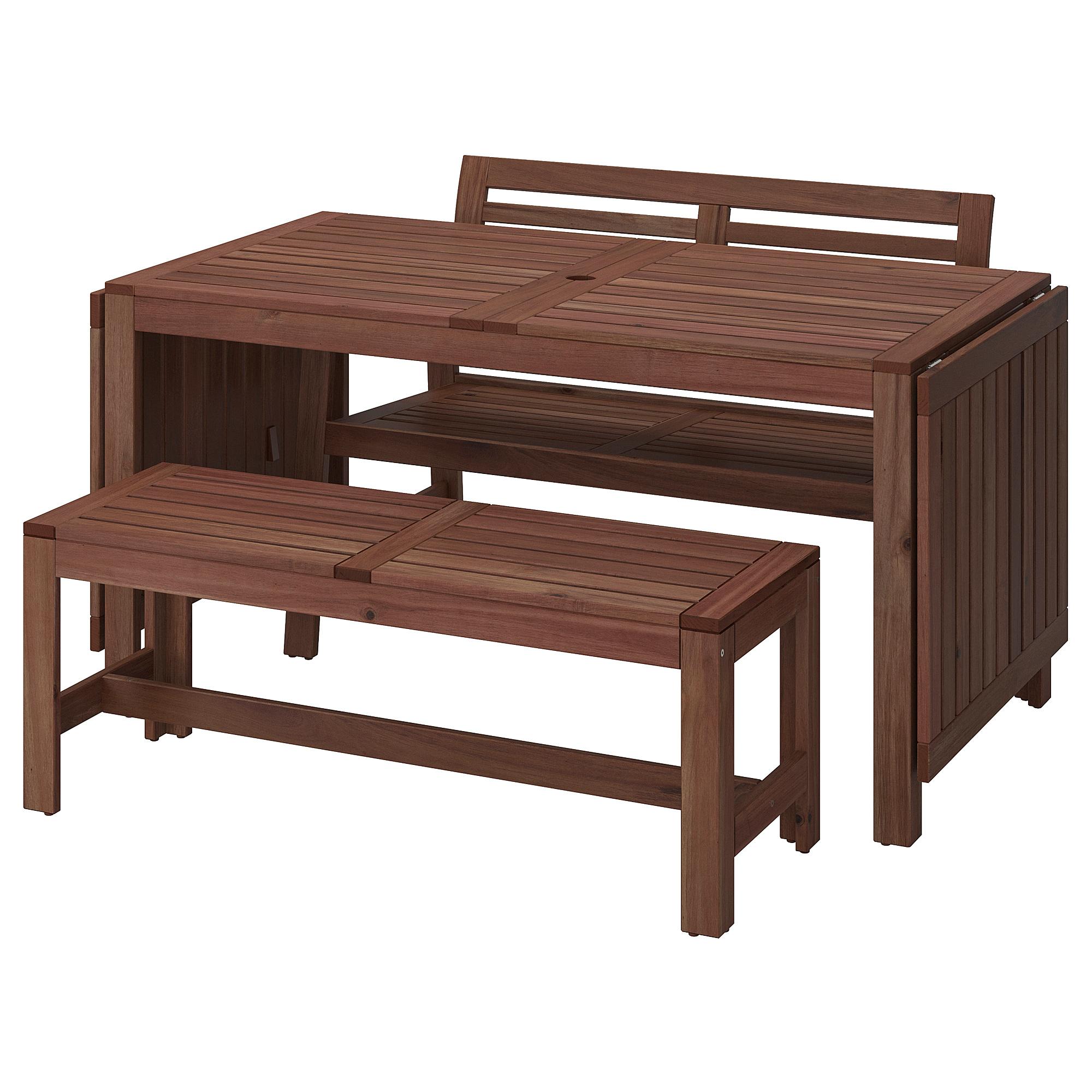 ÄPPLARÖ lauko stalas ir 2 suolai