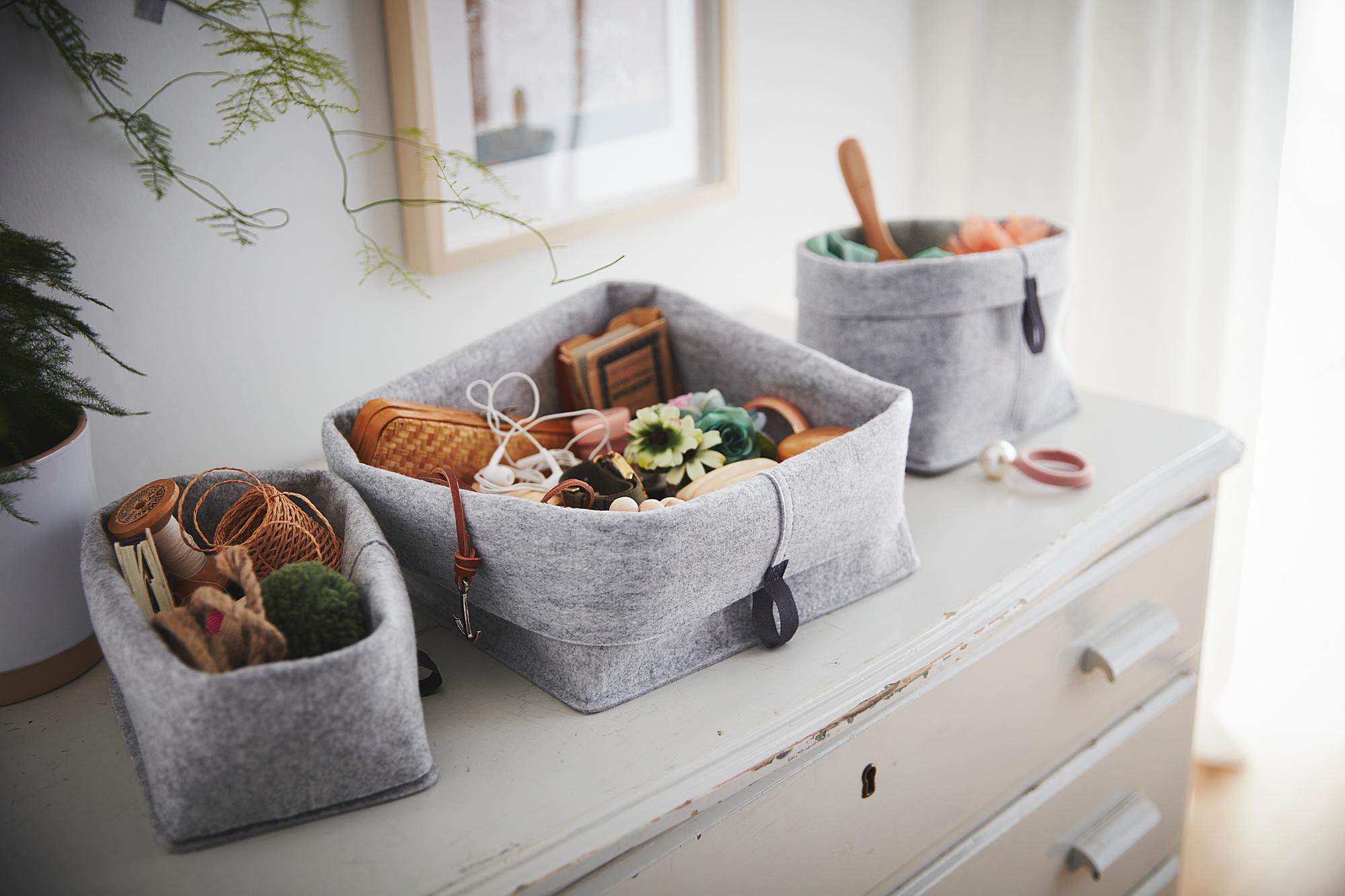 RAGGISAR basket, set of 3