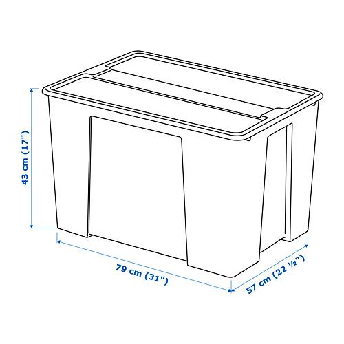 SAMLA dėžė su dangčiu