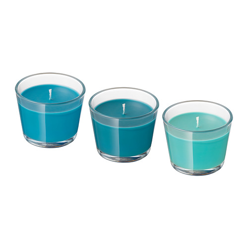 BRÄCKA scented candle in glass
