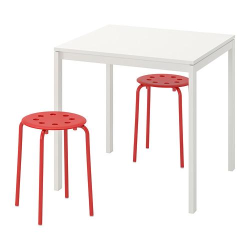 MELLTORP/MARIUS stalas ir 2 taburetės