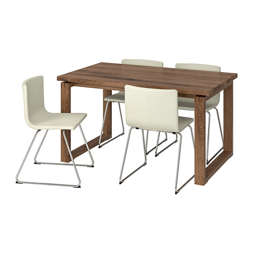 MÖRBYLÅNGA/BERNHARD stalas ir 4 kėdės