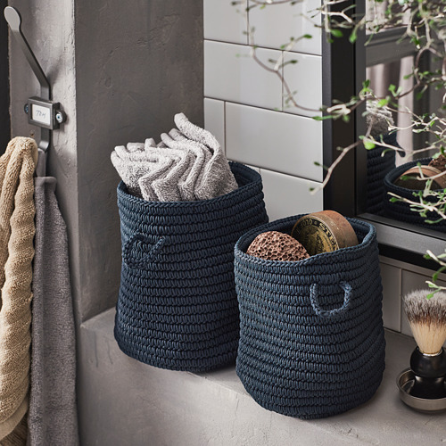 NORDRANA basket, set of 2