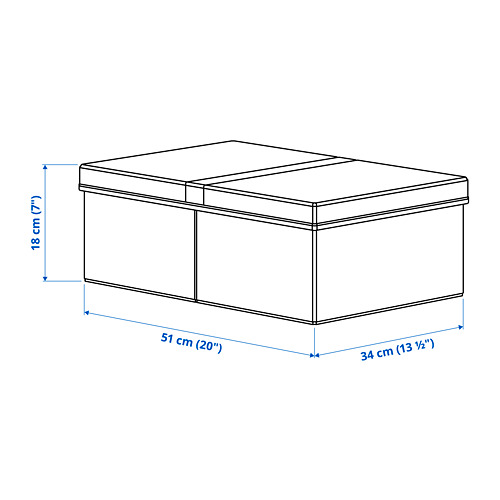FULLSMOCKAD clothes box with lid