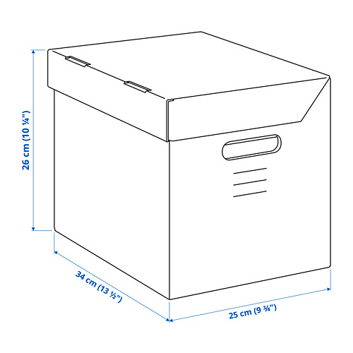 PAPPIS dėžė su dangčiu