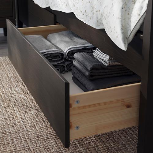 IDANÄS bed frame with storage
