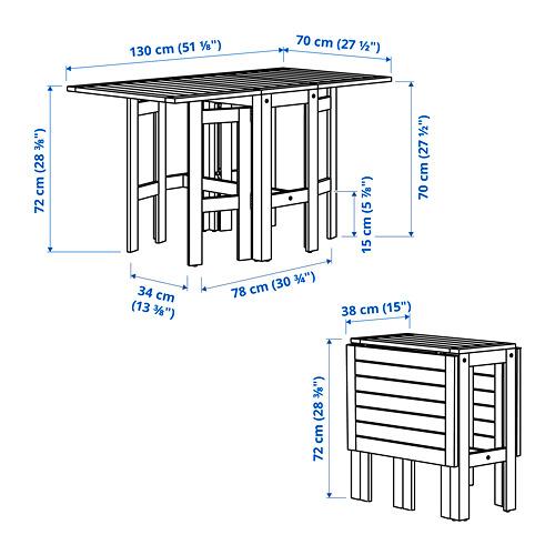 ÄPPLARÖ складной стол, садовый