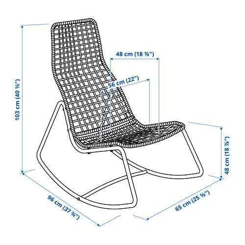 GUBBÖN rocking-chair, in/outdoor