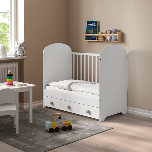 GONATT cot with drawer