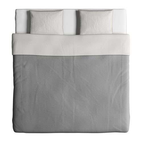 BLÅVINDA quilt cover and 2 pillowcases