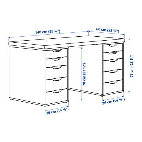 ALEX/LAGKAPTEN письменный стол