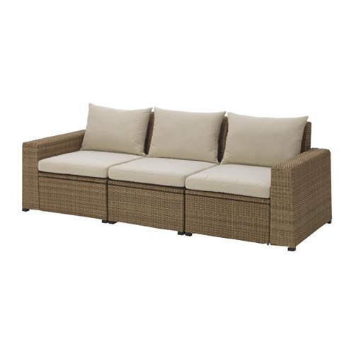 SOLLERÖN trivietė modulinė lauko sofa