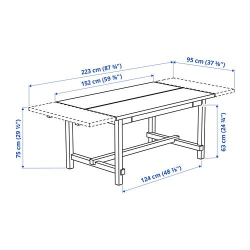 NORDVIKEN ištraukiamasis stalas