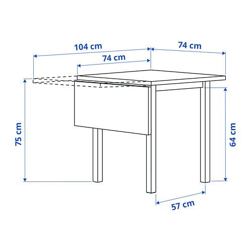 NORDVIKEN drop-leaf table