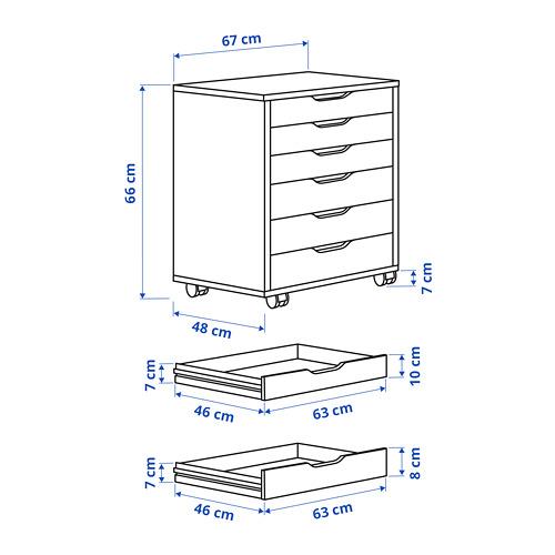 ALEX drawer unit on castors