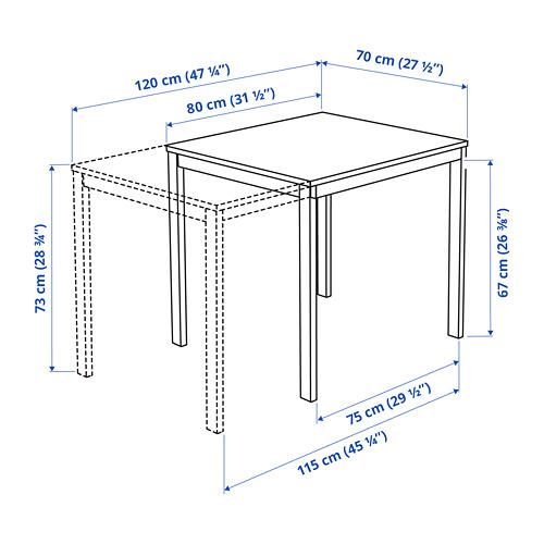 VANGSTA ištraukiamasis stalas