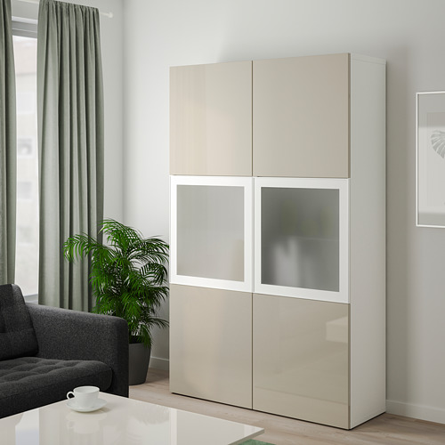 BESTÅ storage combination w glass doors