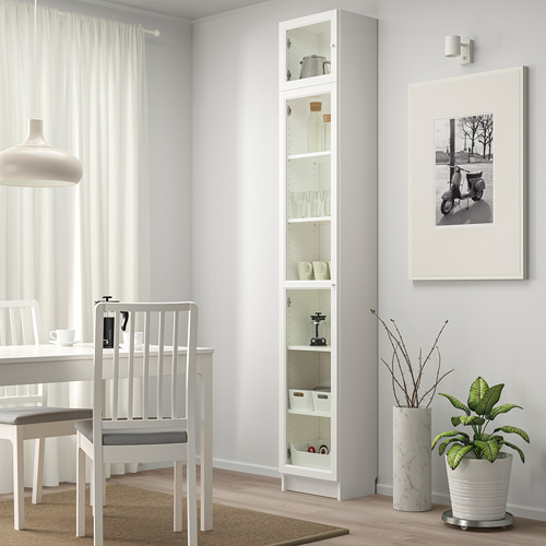 OXBERG/BILLY bookcase with glass door