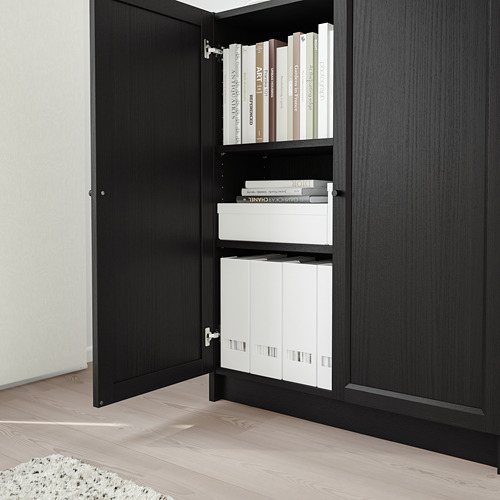 OXBERG/BILLY bookcase with doors