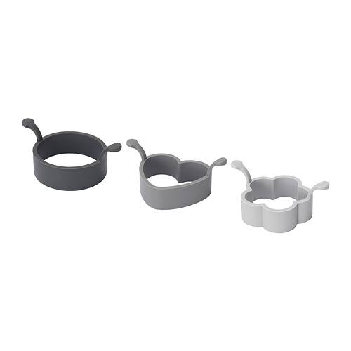 FISKBEN 3-piece cooking mould set