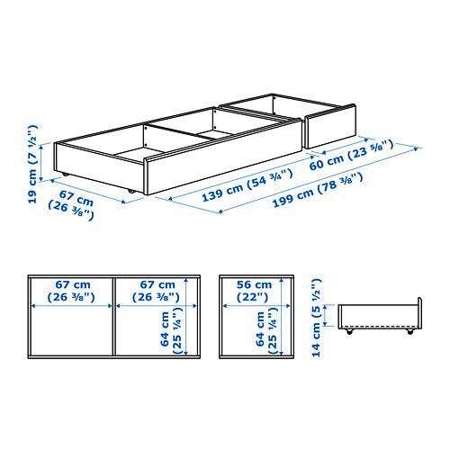 SONGESAND bed storage box, set of 2