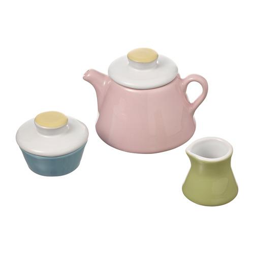 DUKTIG, tējas servīze, 3 vien. dažādās krāsās