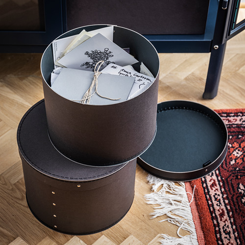 ANILINARE storage box with lid, set of 2