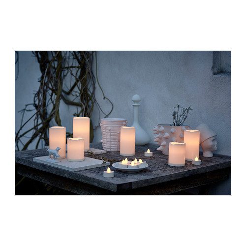 GODAFTON LED block candle, in/outdoor