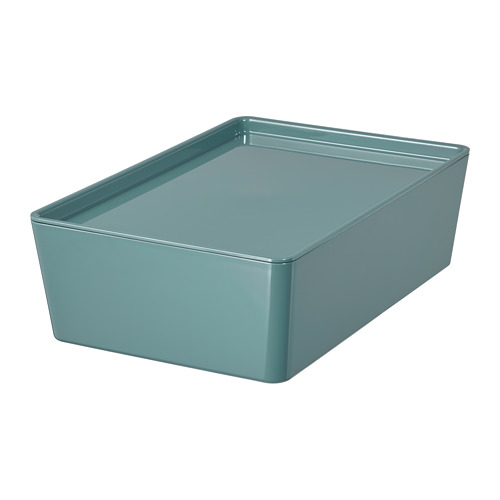KUGGIS storage box with lid