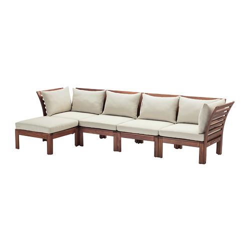 ÄPPLARÖ 4-местный модульный диван, садовый