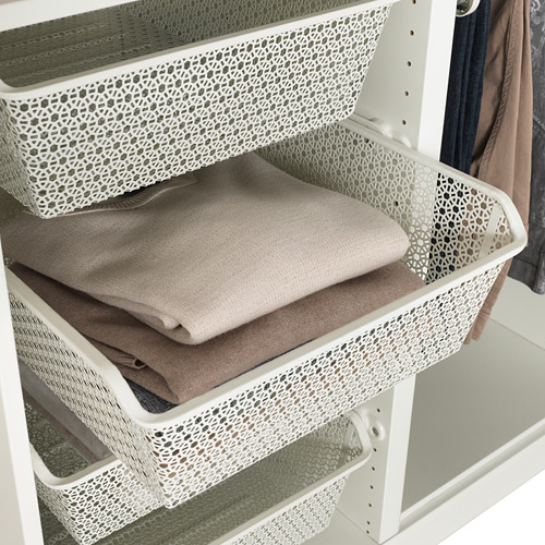 KOMPLEMENT metal basket with pull-out rail