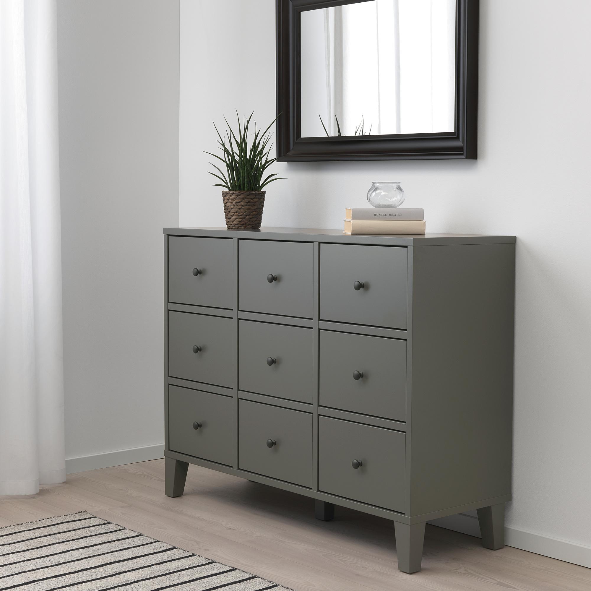 BRYGGJA chest of 9 drawers