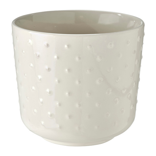 SESAMFRÖN puķupods  13 cm lietošanai telpās vai ārā pienbaltā krāsā