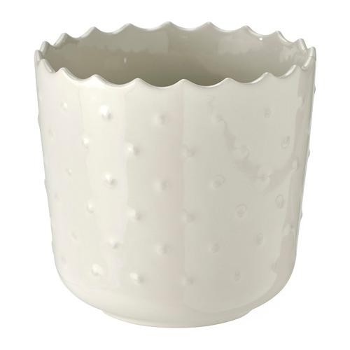 SESAMFRÖN puķupods  10 cm lietošanai telpās vai ārā pienbaltā krāsā