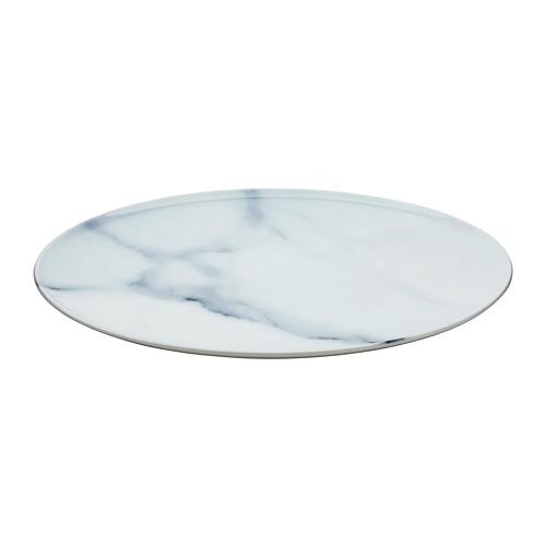SAMSTÄMMIG, servēšanas šķīvis Ø32 cm baltā krāsā/ar rakstu
