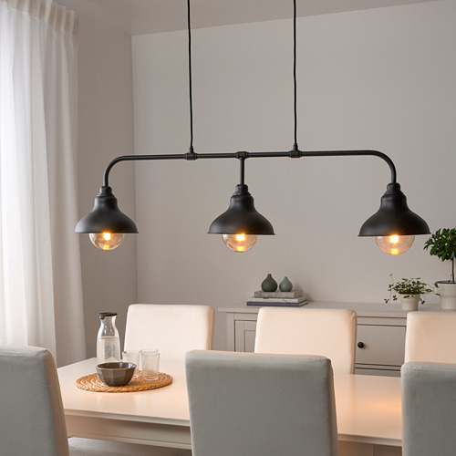 AGUNNARYD pendant lamp with 3 lamps