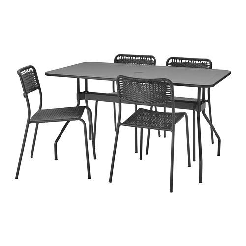 VIHOLMEN/VIHOLMEN stalas+4 kėdės, lauko