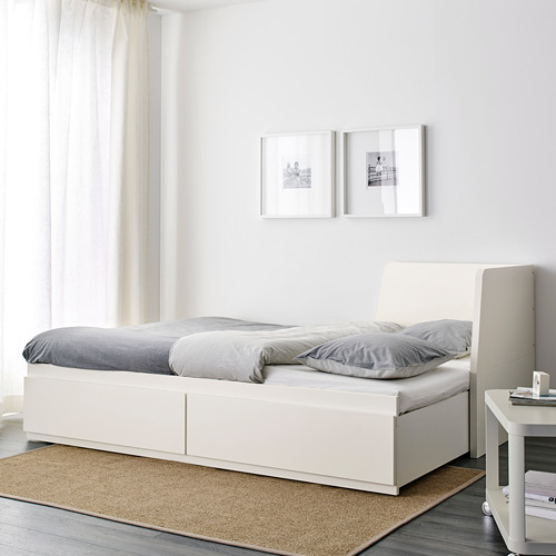 FLEKKE day-bed frame with 2 drawers